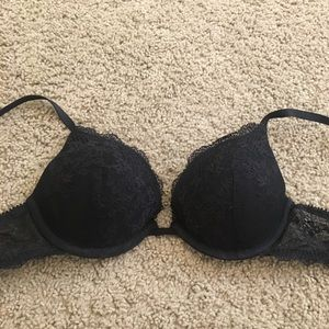 ☀️NEW☀️Women's Gap Body Black Lace Push Up Bra 32C